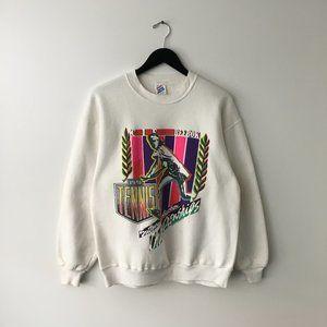 90s Vintage Tennis Championship Sweatshirt USA L
